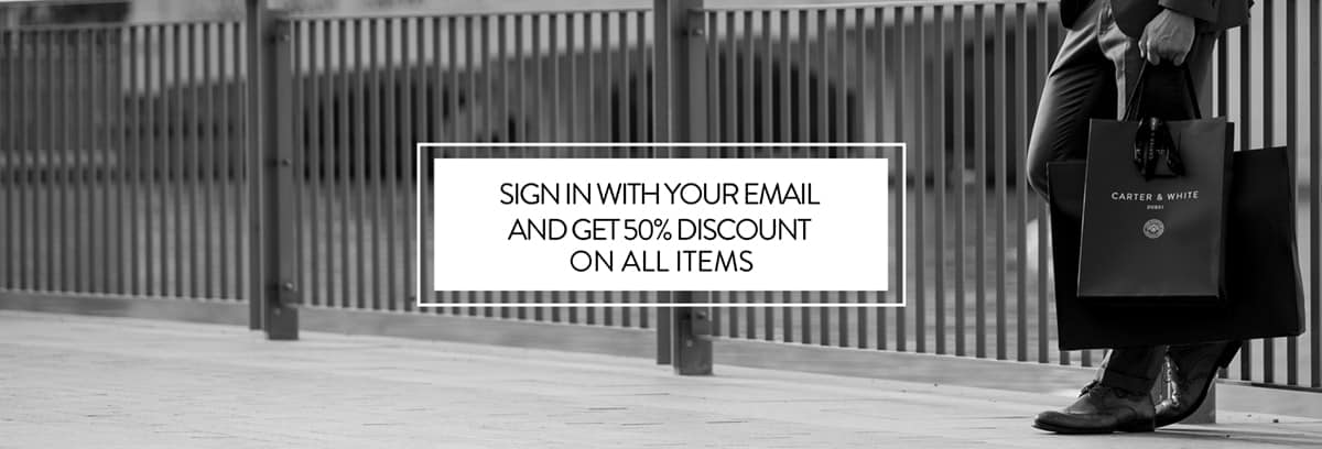 Sign in with your email and get 50% discount
